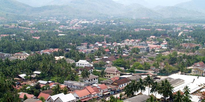 Vista de la Ciudad Luang Prabang