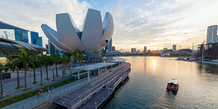 Singapur Stadtblick