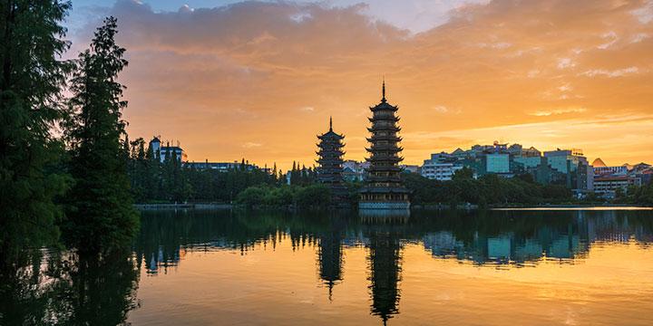 parque cultural de pagodas gemelas del sol y la luna