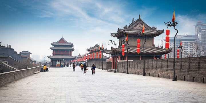 la antigua muralla de la ciudad de xi'an