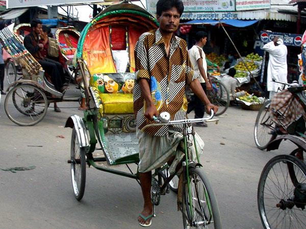 Rickshaw in Yangon