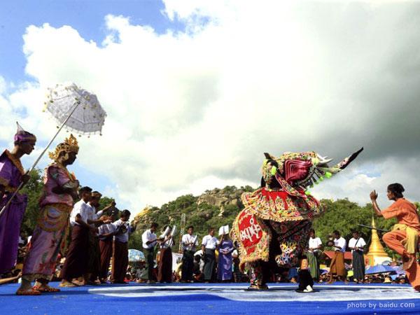 Elephant Dance Festival in Myanmar