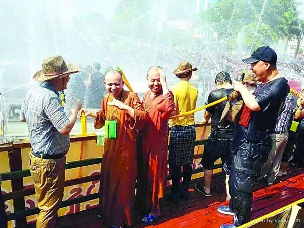 Water Festival in Myanmar