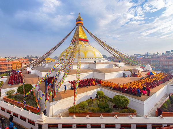 Boudhanath Tempel in Kathmandu