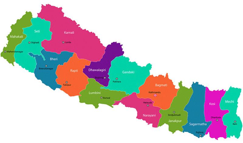 Nepal Verwaltungsgliederung